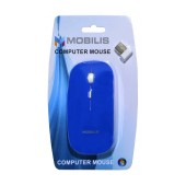 Wireless Mouse Mobilis MM-131 with 4 Buttons and 1600 DPI Blue