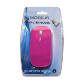 Wireless Mouse Mobilis MM-131 with 4 Buttons and 1600 DPI Pink