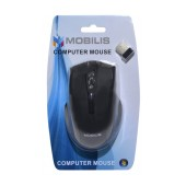 Wireless Mouse Mobilis MM-126 with 6 Buttons and 1600 DPI Black