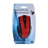 Wireless Mouse Mobilis MM-126 with 6 Buttons and 1600 DPI Black - Red