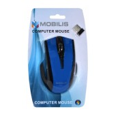 Wireless Mouse Mobilis MM-126 with 6 Buttons and 1600 DPI Black - Blue