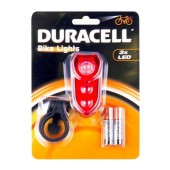 Duracell Bicycle Light Rear Light 3 Led with 2 x ΑΑΑ Batteries