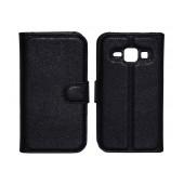 Book Case Ancus Teneo TPU for Samsung SM-J100F Galaxy J1 Black