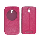 Book Case Ancus for Doogee Valencia 2 Y100 / Y100 Pro Fuchsia