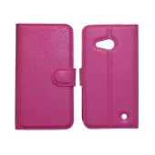 Book Case Ancus Teneo TPU for Microsoft Lumia 550 Fuchsia