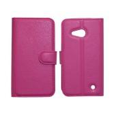 Book Case Ancus Teneo TPU for Microsoft Lumia 550 Fuchsia