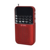 Portable Digital Radio FM/MP3 Player Nakai C200 Red with Rechargeable Battery