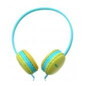 Stereo Headphones Keeka U-1 3.5 mm for Apple-Samsung-HTC-BlackBerry-LG Blue