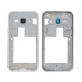 Front Cover Frame Samsung SM-J100 Galaxy J1 with Camera Lens and On/Off Button White Original GH98-36101A