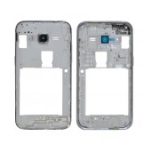 Front Cover Frame Samsung SM-G361F Galaxy Core Prime VE with Camera Lens and On/Off Button White Original GH98-36730A