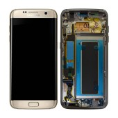 Original LCD & Digitizer Samsung SM-G935F Galaxy S7 Edge Gold with Frame and Charging Connector GH97-18533C