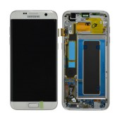 Original LCD & Digitizer Samsung SM-G935F Galaxy S7 Edge White with Frame and Charging Connector GH97-18533D