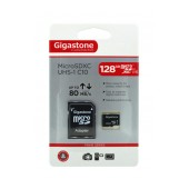 Flash Memory Card Gigastone MicroSDXC UHS-1 128GB C10 Professional Series with Adapter up to 80 MB/s*