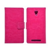 Book Case Ancus Stick it for Doogee Valencia 2 Y100 / Y100 Pro Fuchsia
