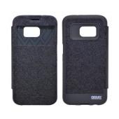 Book Case Goospery Wow Bumper View for Samsung SM-G930F Galaxy S7 Black by Mercury