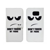 Book Case Ancus Art Collection for Samsung SM-G920 Galaxy S6 Don't Touch My Phone