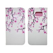 Book Case Ancus Art Collection for Samsung SM-G920 Galaxy S6 Almond Tree