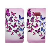 Book Case Ancus Art Collection for Samsung SM-G930 Galaxy S7 Butterfly