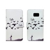 Book Case Ancus Art Collection for Samsung SM-G930 Galaxy S7 Faith