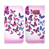 Book Case Ancus Art Collection for Samsung SM-G925 Galaxy S6 Edge Butterfly