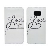 Book Case Ancus Art Collection for Samsung SM-G925 Galaxy S6 Edge Love