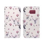 Book Case Ancus Art Collection for Samsung SM-G925 Galaxy S6 Edge Flower