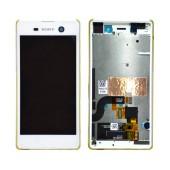 Original LCD & Digitizer for Sony Xperia M5 E5603 White 191HLY0004B-WCS