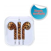 Hands Free Art Collection Stereo for Apple-Samsung-HTC-BlackBerry-LG 3.5 mm with Remote Tiger