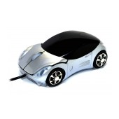 Mobilis Car AA-07 Wired Mouse 3 Button 1200 DPI Silver (100*50*35mm)