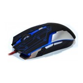 Wired Mouse R-horse RH-1990 Robocop Series with 5 Buttons and 3200 DPI Black - Blue