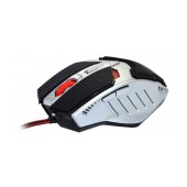 Wired Mouse R-horse FC-1591 Game Series 5 Button 3200 DPI Black - Silver (120*80*35mm)