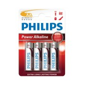 Battery Alkaline Philips PowerLife LR6 size AA 1.5 V Psc. 4