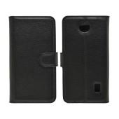 Book Case Ancus Teneo TPU for Huawei Ascend Y635 Black