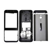 Front Cover Nokia 230 Grey - Black OEM