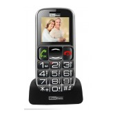 Maxcom MM462BB with Large Buttons, Bluetooth, Radio (Works without Handsfre), Torch, Camera and Emergency Button Black