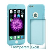 360 Protect Case Ancus for Apple iPhone 6/6S Blue with Tempered Glass Screen Protector 0.20mm
