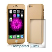 360 Protect Case Ancus for Apple iPhone 6/6S Gold with Tempered Glass 0.20mm