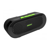 Outdoor Proof Wireless Speaker Bluetooth Jabees beatBOX BI 3W IPX4 Black - Green with Speakerphone and Audio-in