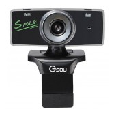 USB Webcam Gsou B18s 1.3 MP Black