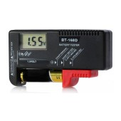Battery Tester BT-168D for Batteries 1.5V, 9V and Mini Cell with Digital LCD Screen