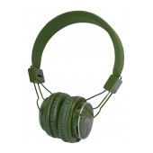 Headphone Stereo NIA Foldable MRH-8809S 3.5 mm Green with FM Radio and MP3 Player with Micro SD MC