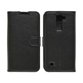 Book Case Ancus Teneo for LG K8 K350N TPU Black