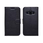 Book Case Ancus Teneo TPU for Samsung SM-J120F Galaxy J1 (2016) TPU Black