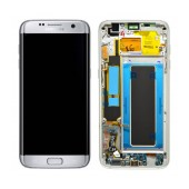 Original LCD & Digitizer Samsung SM-G935F Galaxy S7 Edge Silver with Frame and Charging Connector GH97-18533B