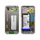 Middle Frame Cover Samsung SM-A520F Galaxy A5 (2017) with Battery and On/Off. Volume Buttons Gold Original GH82-13664B