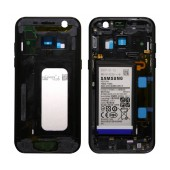 Middle Frame Cover Samsung SM-A320F Galaxy A3 (2017) with Battery and On/Off. Volume Buttons Black Original GH82-13667A