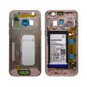 Middle Frame Cover Samsung SM-A320F Galaxy A3 (2017) with Battery and On/Off. Volume Buttons Pink Original GH82-13667D
