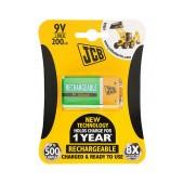 Rechargeable Battery JCB 200 mAh size 9V HR9V Pcs. 1