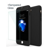 360 Protect Case Ancus for Apple iPhone 7 Black with Tempered Glass 0.20mm