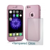 360 Protect Case Ancus for Apple iPhone 7 Pink with Tempered Glass Screen Protector 0.20mm